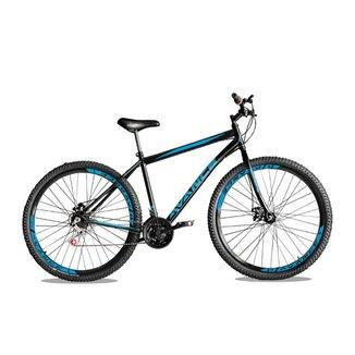 Bicicleta Aro 29 De Aço 21v Freio A Disco Com Garfo Rígido