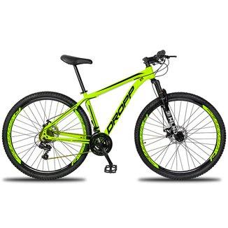 Bicicleta Aro 29 DROPP Aluminum Color 21 Marchas Freio a Disco Mecânico e Suspensão