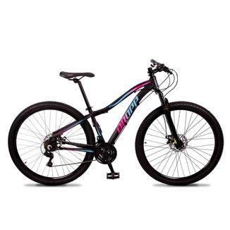 Bicicleta Aro 29 Dropp Flowers Câmbio Shimano Freio Disc 21v