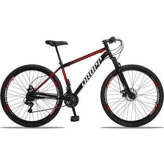 Bicicleta Aro 29 Dropp Sport 21V Freios a Disco E Suspensão