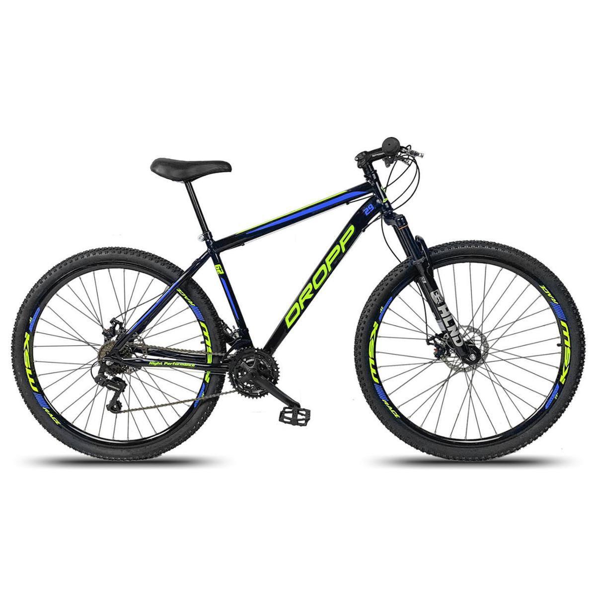 Bicicleta Dropp Sport T17 Aro 29 Susp. Dianteira 21 Marchas - Azul/preto