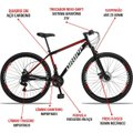 Bicicleta Aro 29 Dropp Sport Aço Suspensão Freio Disc 21v