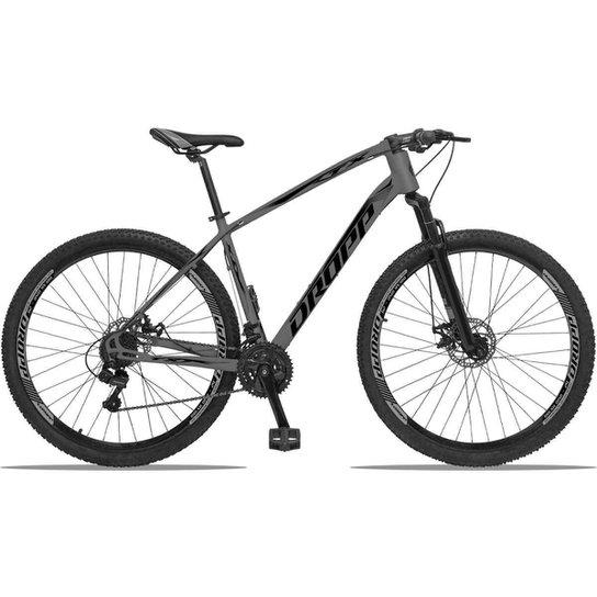 Bicicleta Aro 29 Dropp TX Bull Câmbio Shimano 21V Freios a Disco - Grafite