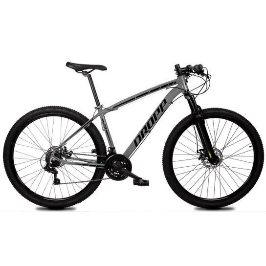 Bicicleta Aro 29 Dropp Z1-X Suspensão Freio Disc 21v - Cinza