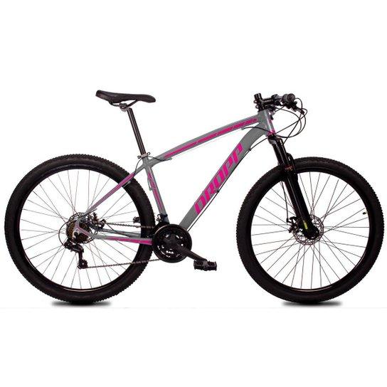 Bicicleta Aro 29 Dropp Z1-X Suspensão Freio Disc 21v - Cinza+Rosa