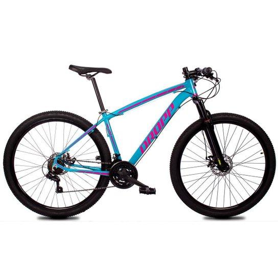 Bicicleta Aro 29 Dropp Z1-X Suspensão Freio Disc 21v - Azul+Rosa