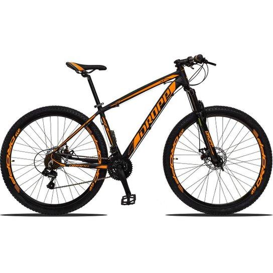 Bicicleta Aro 29 Dropp Z3 Shimano Suspensão Freio Disc 21v - Preto+Laranja