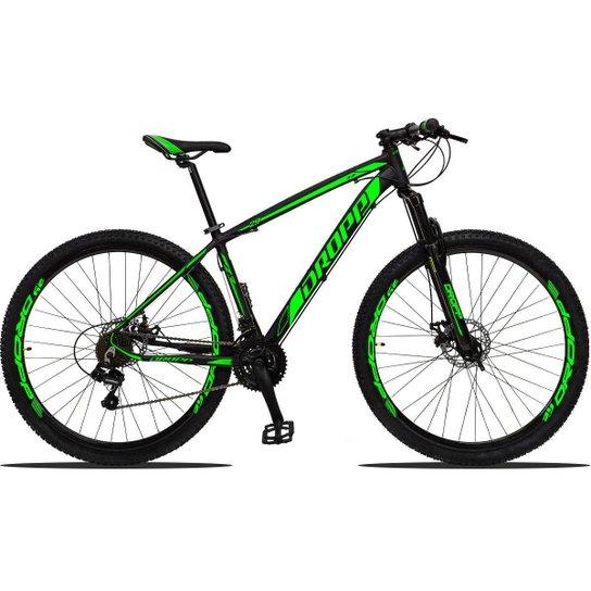 Bicicleta Aro 29 Dropp Z3 Shimano Suspensão Freio Disc 21v - Verde
