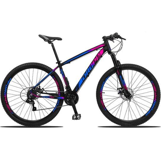 Bicicleta Aro 29 Dropp Z3 Shimano Suspensão Freio Disc 21v - Azul+Rosa