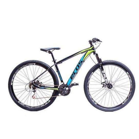 Bicicleta Aro 29 Ecos Touareg Kit 21V Shimano Freio A Disco Mec - Preto+Azul