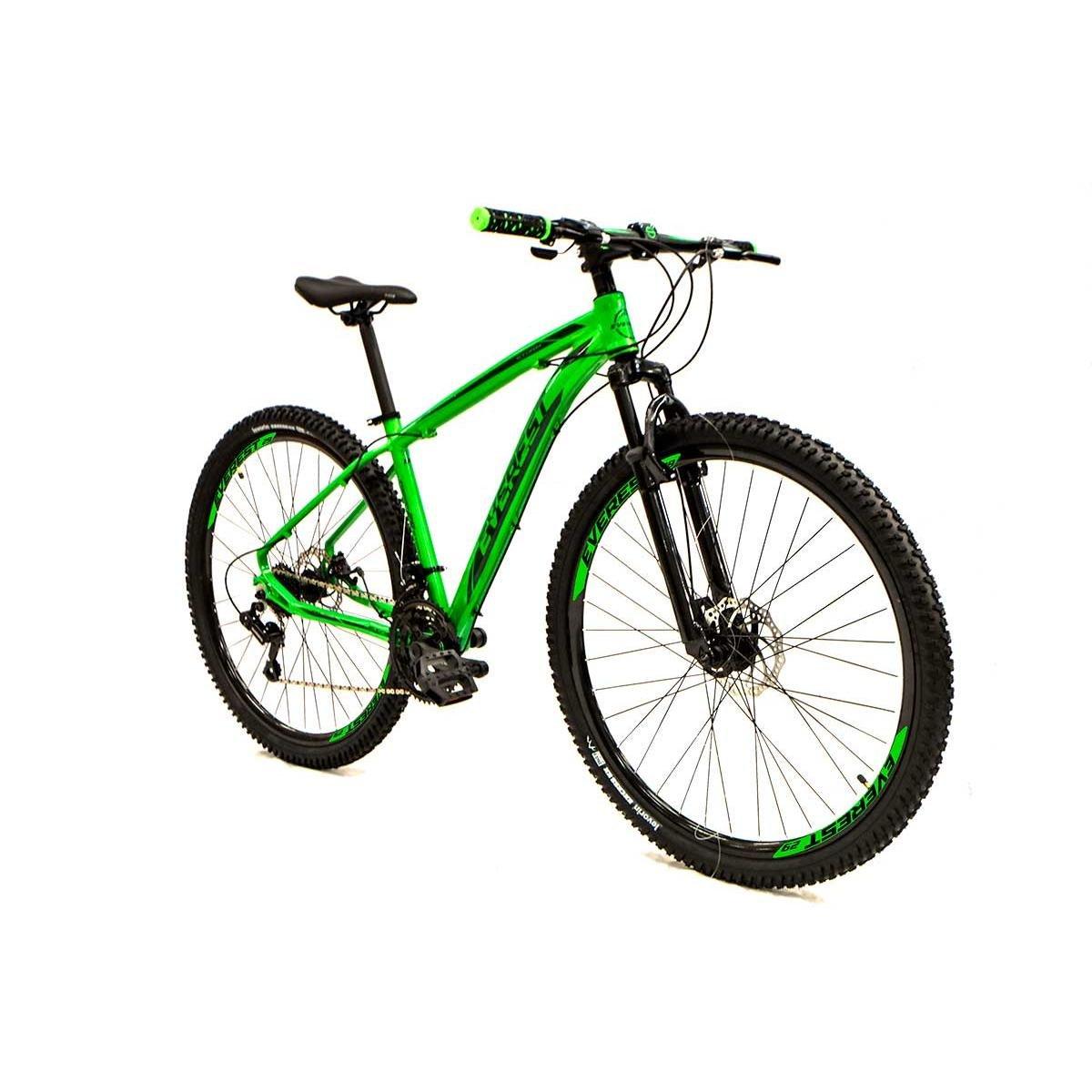 Bicicleta Everest Storm T15 Aro 29 Susp. Dianteira 24 Marchas - Verde