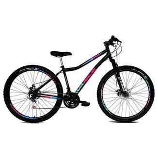Bicicleta Aro 29 Feminina de Aço 21v Freio A Disco Suspensão