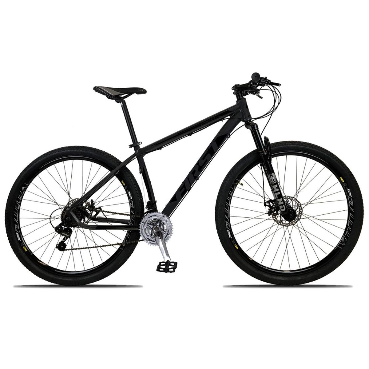 Bicicleta First Smitt Aro 29 Susp. Dianteira 21 Marchas - Preto