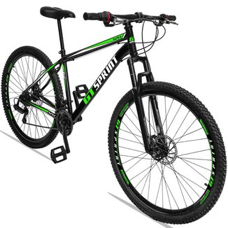 Bicicleta Aro 29 GT Sprint Aço 21v Suspensão Freio A Disco