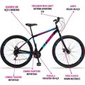 Bicicleta Aro 29 GT Sprint MX1 Aço 21 Marchas Freio a Disco