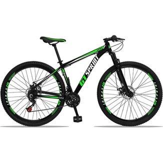 Bicicleta Aro 29 Gt Sprint Mx1 Alumínio 21 Velocidades Freios A Disco Com Suspensão