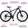 Bicicleta Aro 29 GT Sprint MX1 Alumínio Freio a Disco e Suspensão