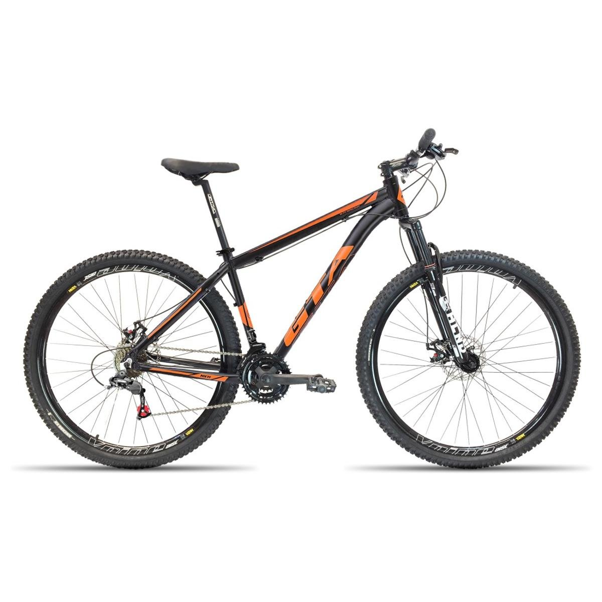 45305e582 Bicicleta Aro 29 GTA NX11 21V Cambios Shimano - Preto e Laranja - Compre  Agora
