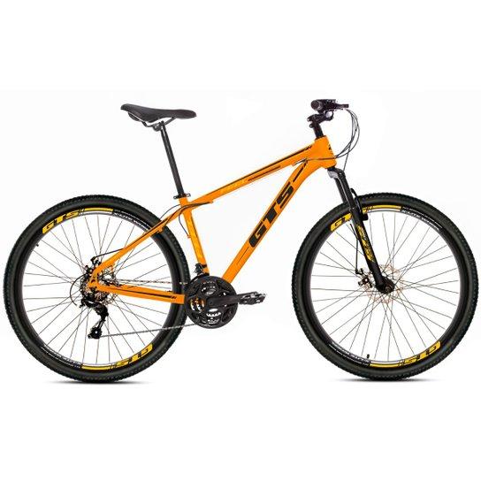 Bicicleta Aro 29 Gts Feel Freio À Disco 21 Marchas - Laranja+Preto