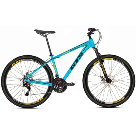 Bicicleta Aro 29 Gts Feel Freio À Disco 21 Marchas - Azul+Preto