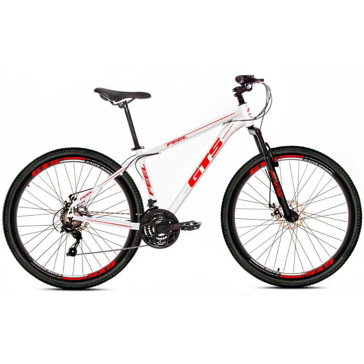 Bicicleta Gts Feel Disc T19 Aro 29 Susp. Dianteira 21 Marchas - Branco