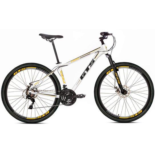 Bicicleta Aro 29 Gts Feel Freio À Disco 21 Marchas - Branco+Preto