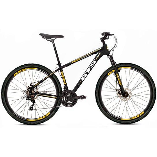 Bicicleta Aro 29 Gts Feel Freio À Disco 21 Marchas - Preto+Amarelo