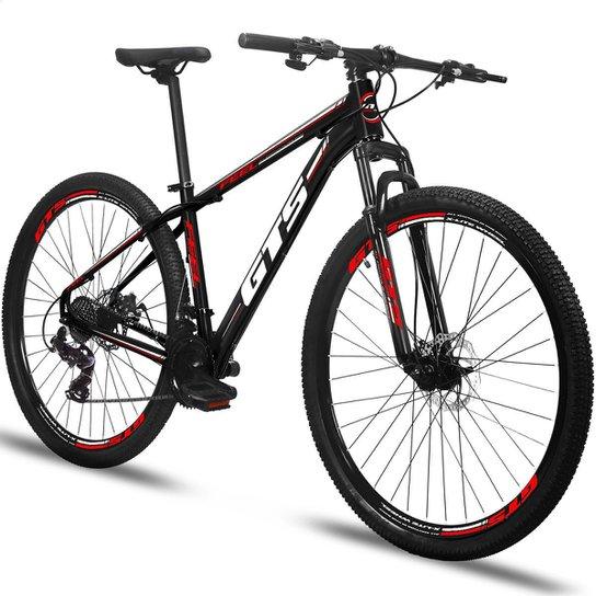 Bicicleta Aro 29 Gts Feel Freio À Disco 24 Marchas - Preto