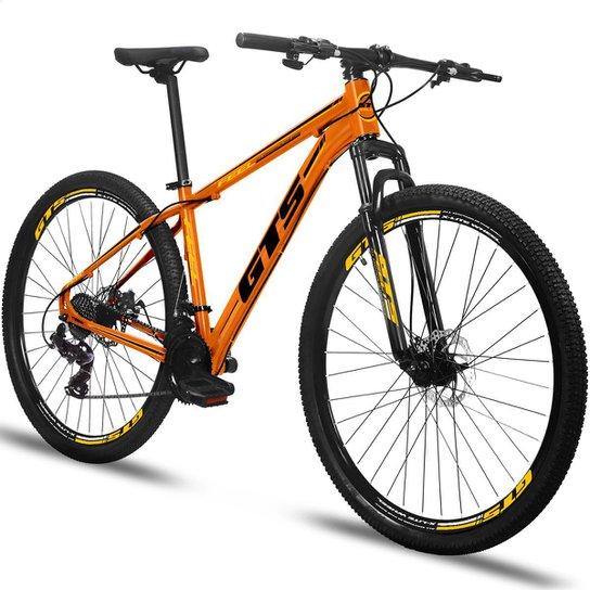 Bicicleta Aro 29 Gts Feel Freio À Disco 24 Marchas - Laranja+Preto