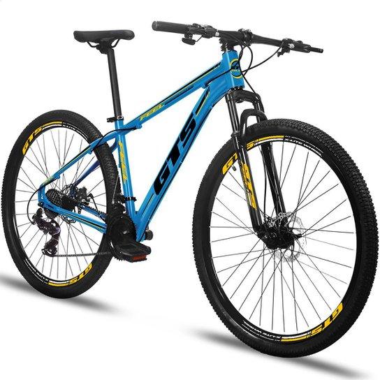 Bicicleta Aro 29 Gts Feel Freio À Disco 24 Marchas - Azul+Preto