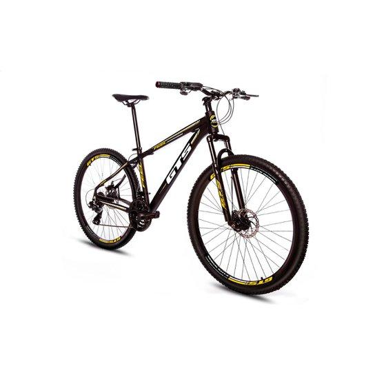Bicicleta Aro 29 Gts Feel Freio À Disco 24 Marchas - Preto+Amarelo