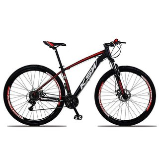 Bicicleta Aro 29 Ksw 21 Marchas Shimano Freios Disco e Trava