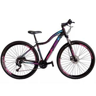 Bicicleta Aro 29 Ksw 21 Vel Shimano Freios Disco e Trava/K7