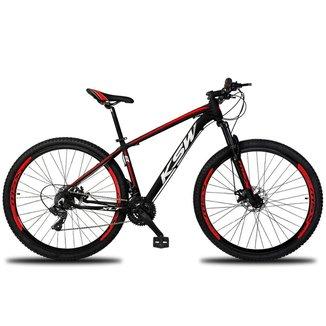 Bicicleta Aro 29 Ksw 24 Marchas Freios a Disco c/Trava e K7