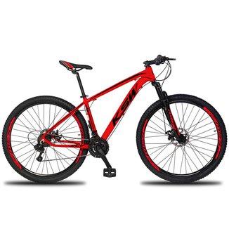 Bicicleta Aro 29 KSW Color 21 Marchas Câmbios Shimano Freio a Disco Mecânico e Suspensão