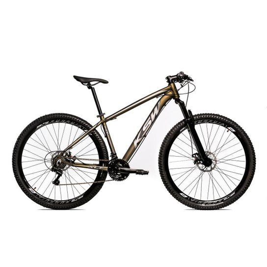 Bicicleta Aro 29 Ksw Shimano 24 Vel A Disco Ltx hidraulica - Vermelho+Prata