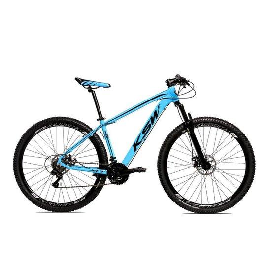 Bicicleta Aro 29 Ksw Shimano 24 Vel A Disco Ltx hidraulica - Azul+Preto
