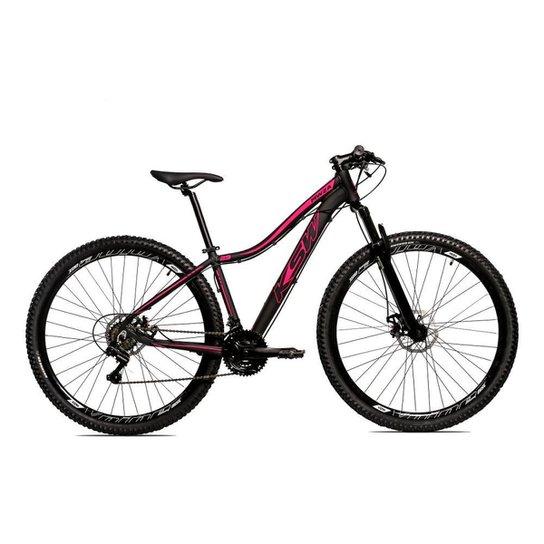 Bicicleta Aro 29 Ksw Shimano 24 Vel A Disco Ltx hidraulica - Preto+Rosa