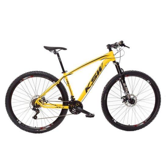 Bicicleta Aro 29 Ksw Shimano 24 Vel A Disco Ltx hidraulica - Amarelo+Preto