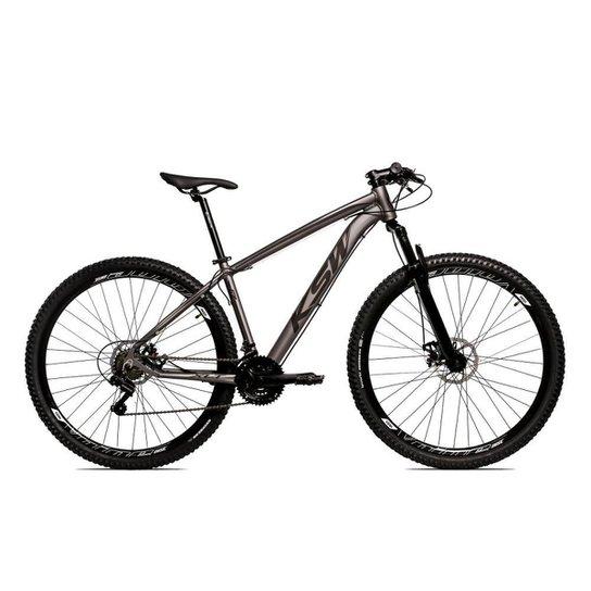 Bicicleta Aro 29 Ksw Shimano 24 Vel A Disco Ltx hidraulica - Grafite+Preto