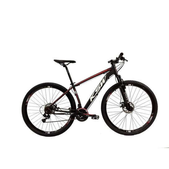 Bicicleta Aro 29 Ksw Shimano 24 Vel A Disco Ltx - Preto+Vermelho