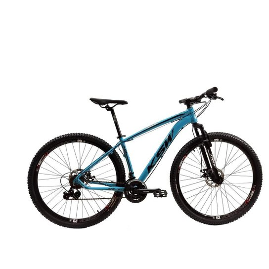 Bicicleta Aro 29 Ksw Shimano 24 Vel A Disco Ltx - Azul+Preto