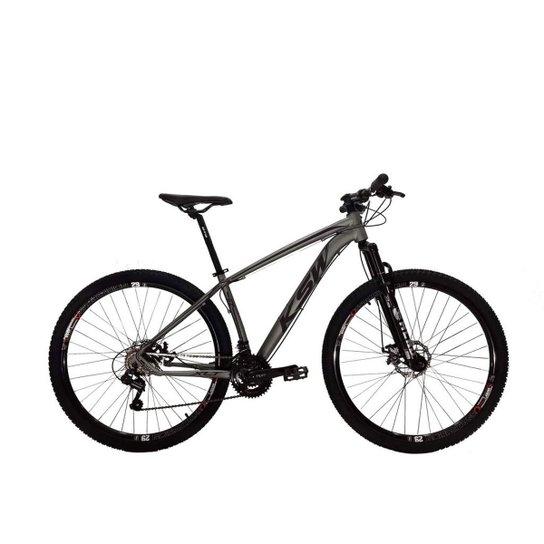 Bicicleta Aro 29 Ksw Shimano 24 Vel A Disco Ltx - Grafite+Preto