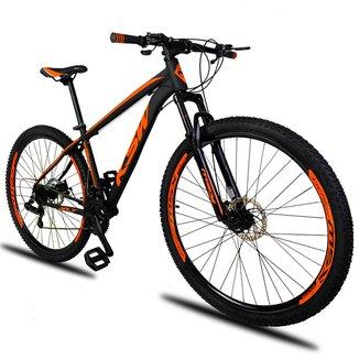Bicicleta Aro 29 KSW XLT 21v Câmbios Shimano Freio a Disco Mecânico com Suspensão