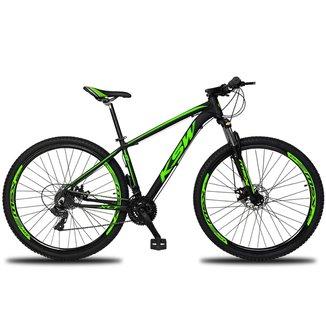 Bicicleta Aro 29 KSW XLT 24v Câmbios Shimano TX-800 Freio a Disco Hidráulico Suspensão com Trava