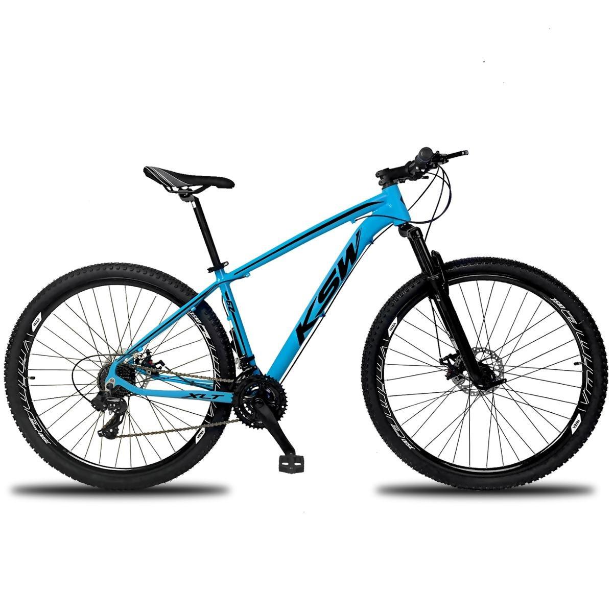 Bicicleta Ksw Xlt Tx-800 Disc M T19 Aro 29 Susp. Dianteira 24 Marchas - Azul/preto