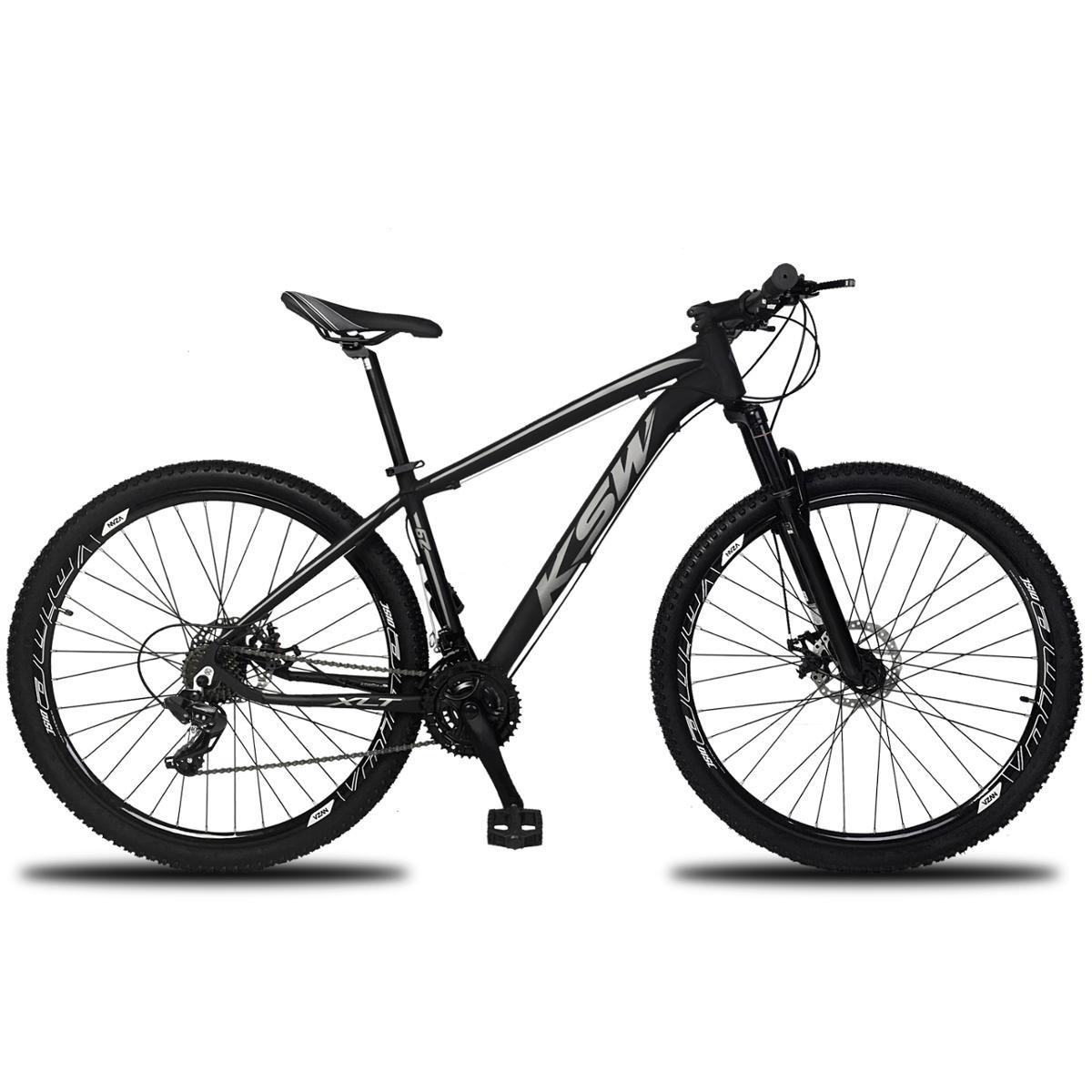 Bicicleta Ksw Xlt Tx-800 Disc M T19 Aro 29 Susp. Dianteira 24 Marchas - Preto