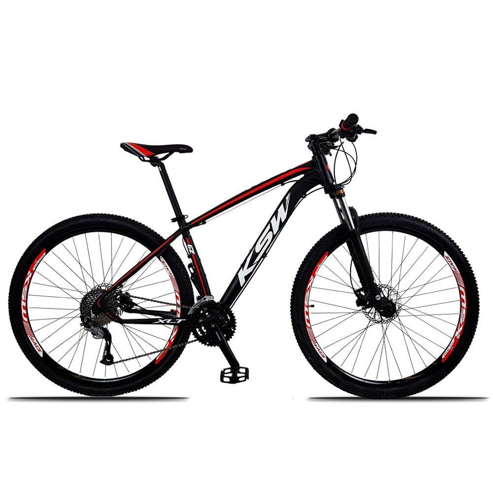 Bicicleta Ksw Xlt M3000 Disc H T15 Aro 29 Susp. Dianteira 27 Marchas - Preto/vermelho
