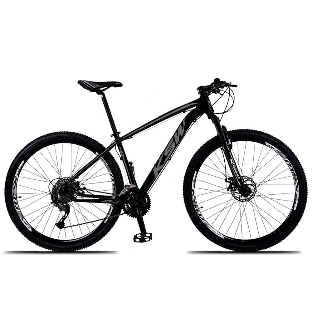 Bicicleta Ksw Xlt M3000 Disc M T21 Aro 29 Susp. Dianteira 27 Marchas - Preto
