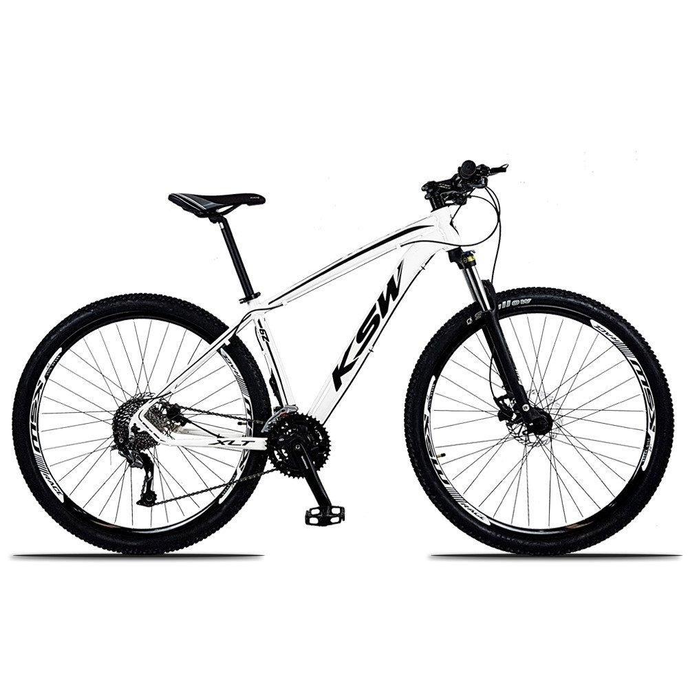 Bicicleta Ksw Xlt M4000 Disc H T15 Aro 29 Susp. Dianteira 27 Marchas - Branco/preto